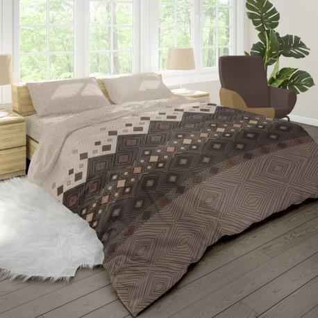 Coffee - 100% Cotton Bed Linen Set (Duvet Cover & Pillow Cases)