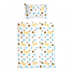 Fish and Jellyfish friends - 100% Cotton Cot / Crib Set (Duvet Cover & Pillow Case)