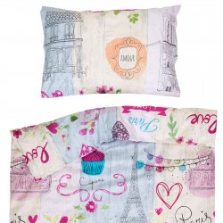 Mon Amour - 100% Cotton Cot / Crib Set (Duvet Cover & Pillow Case)