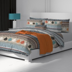 Autumn - 100% Cotton Bed Linen Set (Duvet Cover & Pillow Cases)