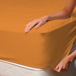 Ocher (Savanna) - Fitted Sheet / 100% Cotton Bedding