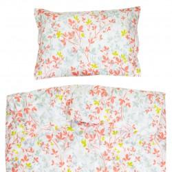 Claire - 100% Coton parure de lit pour bébé (Housse de couette et Taie d'oreiller)