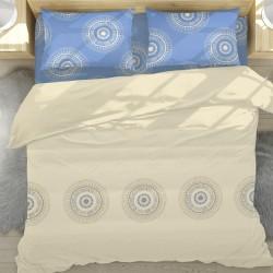 Casa - 100% Coton Parure de Lit (Housse de couette et Taies d'oreiller)