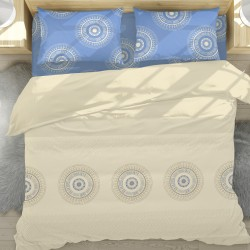 Каза - 100% памук спален комплект (плик и калъфки)