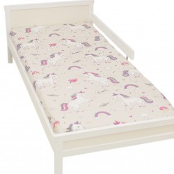 Licorne Drap housse Pati'Chou 100% Coton motif animaux pour lit bébé et enafant
