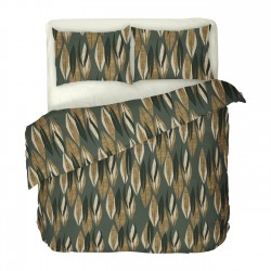 Quiara - 100% Coton Parure de Lit (Housse de couette et Taies d'oreiller)