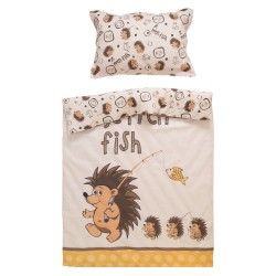 Hedgehog - 100% Cotton Cot / Crib Set (Duvet Cover & Pillow Case)