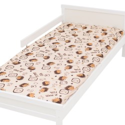 Hérisson Drap housse Pati'Chou 100% Coton motif animaux pour lit bébé et enafant