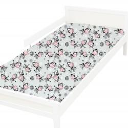 Zèbre Drap housse Pati'Chou 100% Coton motif animaux pour lit bébé et enafant