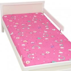 Fantaisie Drap housse Pati'Chou 100% Coton motif animaux pour lit bébé et enafant