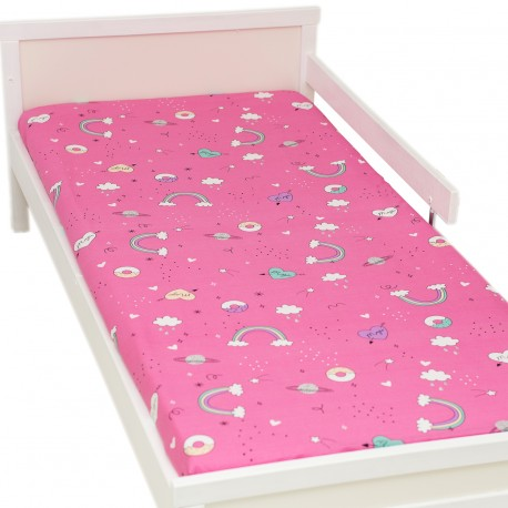 Funtasy Fitted Sheet Pati'Chou 100% Cotton animal pattern for baby and kid bed