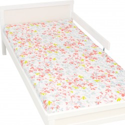 Claire Fitted Sheet Pati'Chou 100% Cotton floral pattern for baby and kid bed