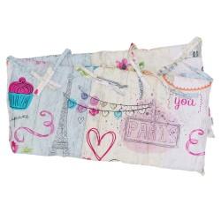 Mon Amour - Cot / Crib Bumper Pad Half Pati'Chou