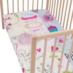 Mon Amour Drap housse Pati'Chou 100% Coton motif abstrait pour lit bébé et enafant