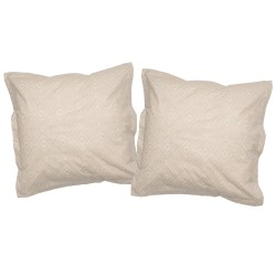 Café - Taies d'oreiller ou traversin / 100% Coton