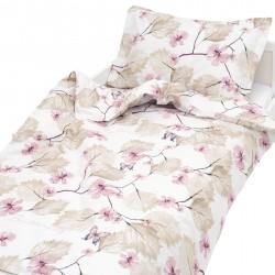 Пеперуди - 100% памук бебешки спален комплект (торба и калъфка)