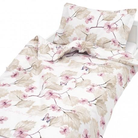 Butterfly - 100% Cotton Cot / Crib Set (Duvet Cover & Pillow Case)