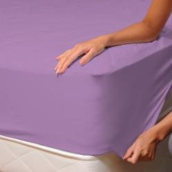 Violet - Drap Housse / 100% Coton Linge de Lit
