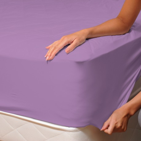 Purple - Fitted Sheet / 100% Cotton Bedding