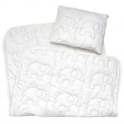 Pati'Chou cuscino e piumone cotone lettino bambino (ricamo elefante)