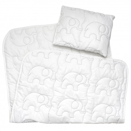 Pati'Chou baby set pillow and quilted duvet (elephant embroidery)