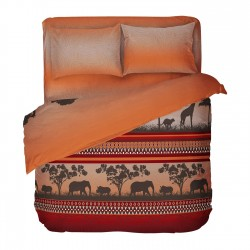 Africa - 100% Cotton Bed Linen Set (Duvet Cover & Pillow Cases)