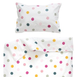 Джой - 100% памук бебешки спален комплект (торба и калъфка)