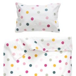 Joy - 100% Coton parure de lit pour bébé (Housse de couette et Taie d'oreiller)