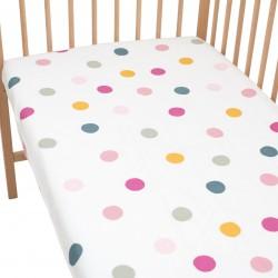 Joy Drap housse Pati'Chou 100% Coton motif abstrait pour lit bébé et enafant