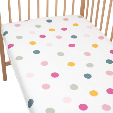 Joy Fitted Sheet Pati'Chou 100% Cotton abstract pattern for baby and kid bed
