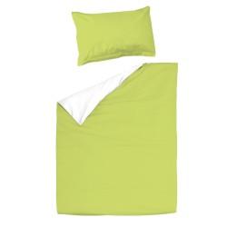 Baby Green & White - 100% Cotton Cot / Crib Set (Duvet Cover & Pillow Case)