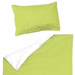 Baby Vert et Blanc - 100% Coton parure de lit pour bébé (Housse de couette et Taie d'oreiller)