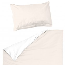 Ecru light and White - 100% Cotton Cot / Crib Set (Duvet Cover & Pillow Case)