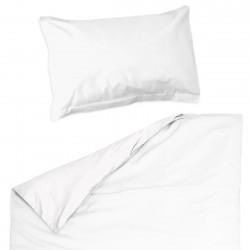 Baby Blanc - 100% Coton parure de lit pour bébé (Housse de couette et Taie d'oreiller)