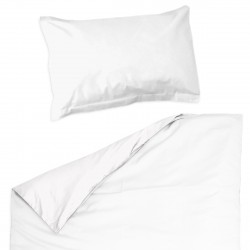 Baby White - 100% Cotton Cot / Crib Set (Duvet Cover & Pillow Case)