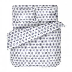 Navy blanc - 100% Coton Parure de Lit (Housse de couette et Taies d'oreiller)