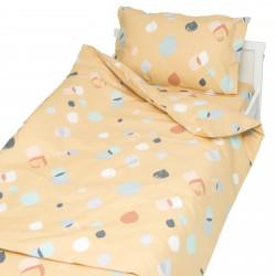 Серена Злато - 100% памук бебешки спален комплект (торба и калъфка)