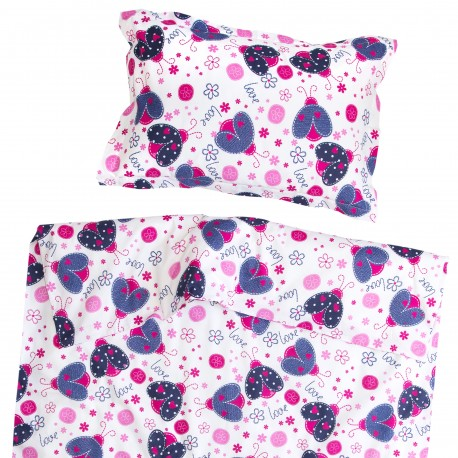 Ladybird - 100% Cotton Cot / Crib Set (Duvet Cover & Pillow Case)