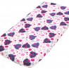 Ladybird Fitted Sheet Pati'Chou 100% Cotton floral pattern for baby and kid bed