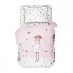 Make a wish - Bed Linen Set, 100% Cotton (Duvet Cover & Pillow Cases)