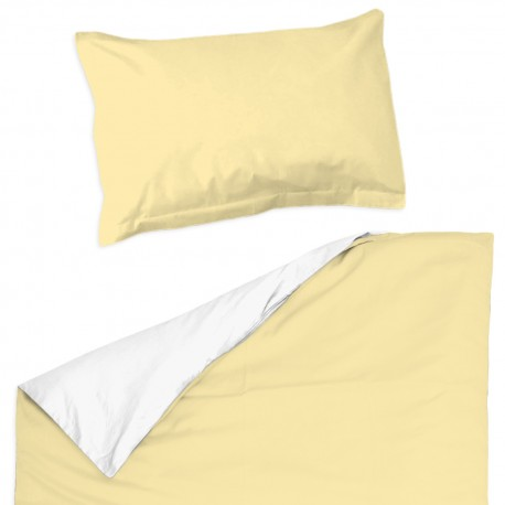 Baby Yellow & White - 100% Cotton Cot / Crib Set (Duvet Cover & Pillow Case)