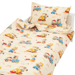 Dogs digging - 100% Cotton Cot / Crib Set (Duvet Cover & Pillow Case)
