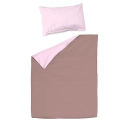 Pink light and ash - 100% Cotton Cot / Crib Set (Duvet Cover & Pillow Case)