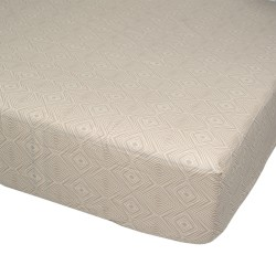Coffee - Fitted Sheet / 100% Cotton Bedding