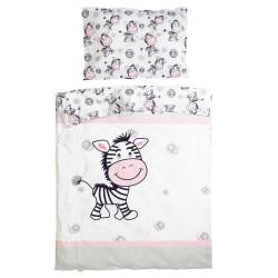 Зебра - 100% памук бебешки спален комплект (торба и калъфка)