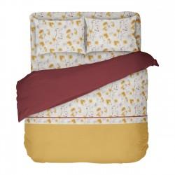 Sunny - 100% Coton Parure de Lit (Housse de couette et Taies d'oreiller)