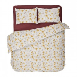 Sunny II - 100% Cotton Bed Linen Set (Duvet Cover & Pillow Cases)