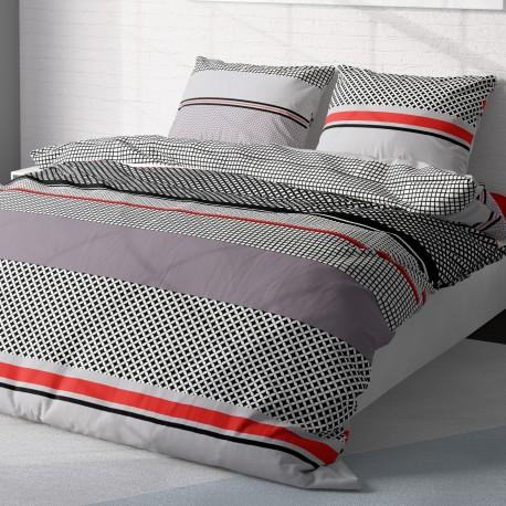 Grid - 100% Cotton Bed Linen Set (Duvet Cover & Pillow Cases)