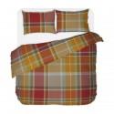Check  - 100% Cotton Bed Linen Set (Duvet Cover & Pillow Cases)