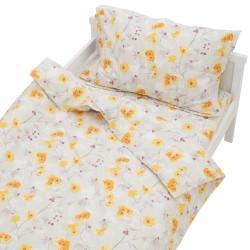 Sunny - 100% Coton parure de lit pour bébé (Housse de couette et Taie d'oreiller)